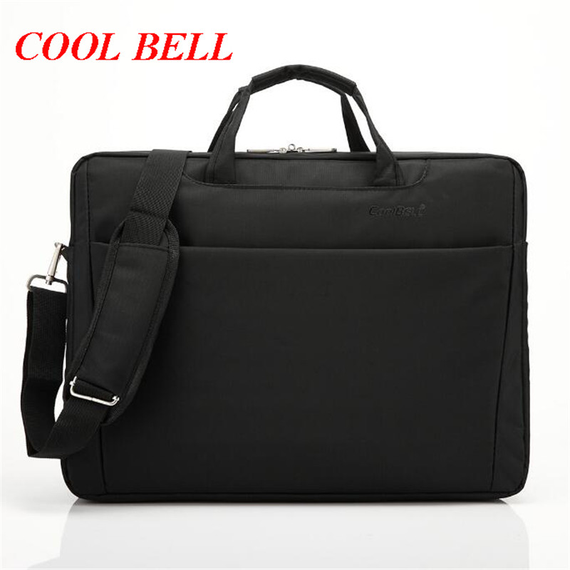 цена на New Cool Bell Brand Nylon Handbag Fashion 17.3 inch Laptop Bag Waterproof Men Messenger Shoulder Bag Women Travel Bag M636