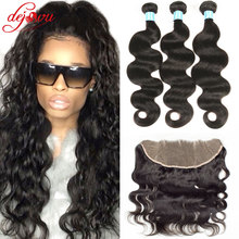 Amazing Hair Company With Closure 3 Bundles Brizilian Virgin Hair With Closure Body Wave Stema Hair With Frontal Closure