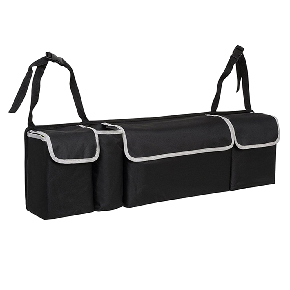 New Car Trunk Organizer Backseat Storage Bag High Capacity Oxford Cloth Car Seat Back Organizers Interior