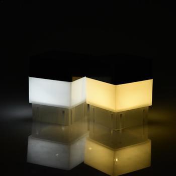 Poste de valla con energía Solar, luz LED para exteriores, jardín, patio, reflectores de Lámpara de piscina, luces de emergencia cuadradas impermeables, luces blancas 30