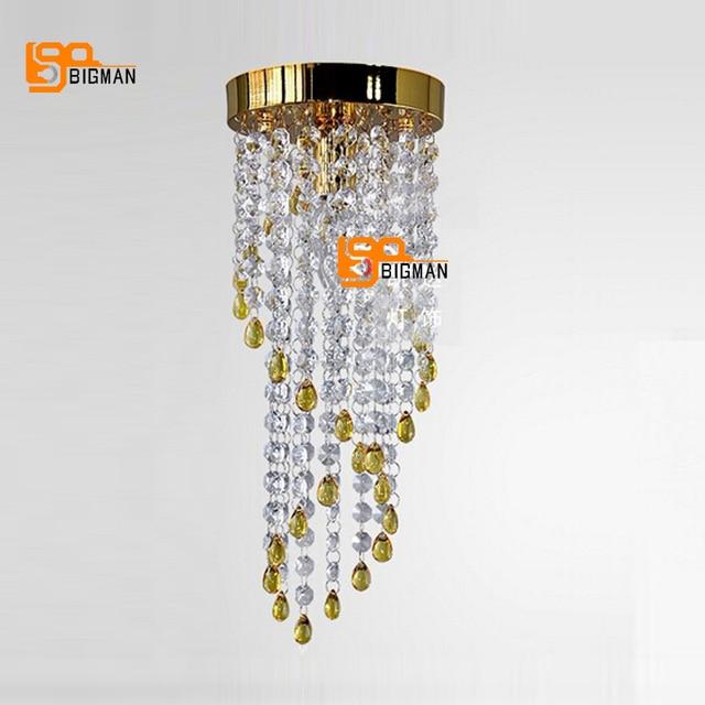 New Design Crystal Spiral Chandelier Modern Light Fixture Hallway Lights Diameter 150mm