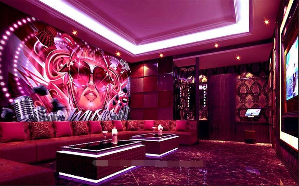 3D wallpaper/custom photo wall paper/trend frog mirror beauty gril/TV/sofa/Bedroom/KTV/Hotel/living room/Children room