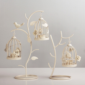 Moroccan Style Candle stick Candleholder Vintage Tea Light Candle Holder Hollow Bird Cage Candlestick Wedding Decor Gifts