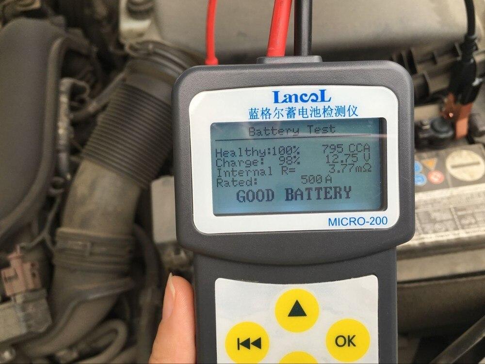LANCOL MICRO-200 Voiture testeur de batteries 12 V Auto Batterie Mesure Unité Multi-langue Aumotive Véhicule NOUVELLE Voiture testeur de batteries