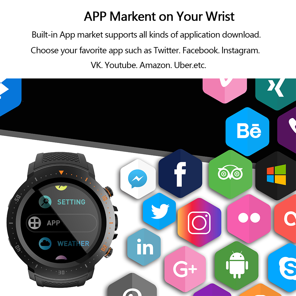 US $127 41 45% OFF|MAKIBES A4 Clock 4G 530mAh 1+16GB Waterproof Luxury  Smart Watches Sport GPS Watch Phone Pedometer Smartwatch For MI8 IOS  Android-in