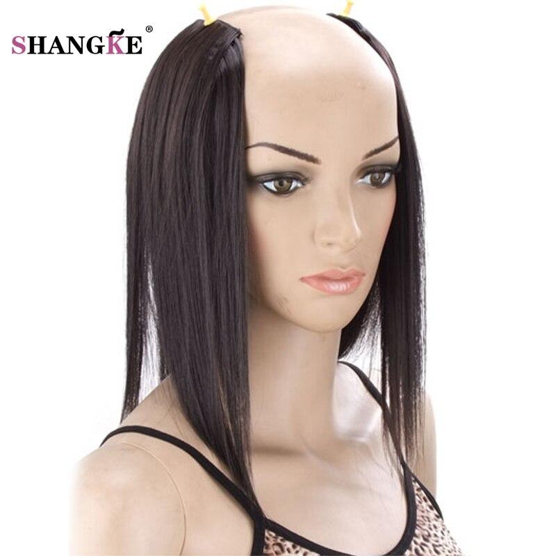 SHANGKE 3 Klipp i hårförlängningar Medium Rakiga Hårstycken - Syntetiskt hår - Foto 2