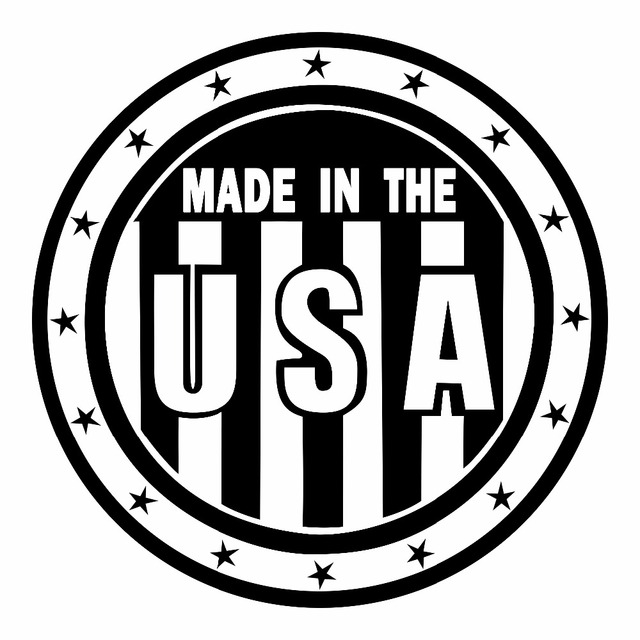 Stars and stripes made in the usa car sticker 1212cm motorcycle sticker vinyl home