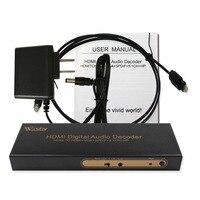 Wiistar HDMI to VGA SPDIF Audio Converter HDMI to 6RCA 5.1 Surround Sound Adapter HDMI Digital Audio Decoder