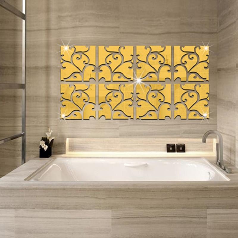 32pcs 3D Mirror Wall Sticker Acrylic Modern Home Decoration Wall ...