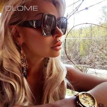 28d84cc6f OLOME السيدات الصيف سوبر الفاخرة العلامة التجارية مصمم النظارات الشمسية  النساء أزياء رجالي ريترو نظارات شمسية الإناث Oculos دي س.