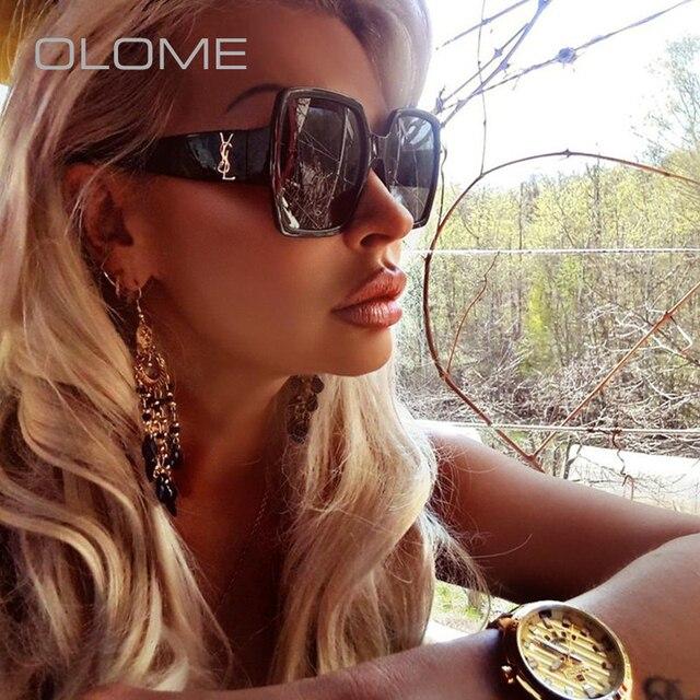 OLOME Ladies Summer Super Luxury Brand designer Sunglasses Women Mens Fashion Retro Sun Glasses Female Oculos De sol  UV400