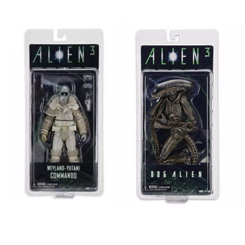 NECA Aliens 3 Dog Alien Weyland-Yutani Commando Xenomorph Warrior PVC Action Figure Collectible Model Toy Doll 7 18cm KT3596 neca a nightmare on elm street 3 dream warriors pvc action figure collectible model toy 7 18cm kt3424