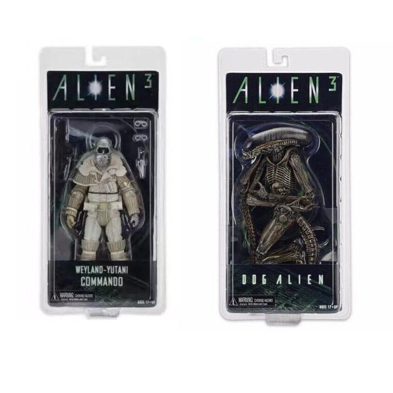 NECA Aliens 3 Dog Alien Weyland-Yutani Commando Xenomorph Warrior PVC Action Figure Collectible Model Toy Doll 7 18cm KT3596
