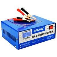 Carregador de bateria automotiva  reparo inteligente  automático  130v-250v  200ah 12/24v  com adaptador toda bateria de chumbo ácido