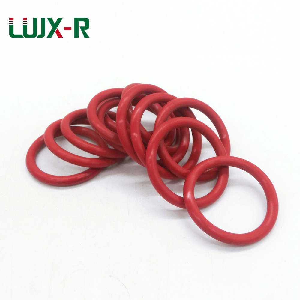 LUJX-R 3.5mm O Ring Seal Silicone Sealing Washer Silicon Gasket VMQ O-Ring OD 36/38/40/41/43/44/45/46/47mm O Ring Orings Sealing silicon vmq o ring o ring red 19x1 and 20x1