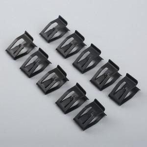 Image 1 - 10 sztuk samochodów przednia konsola Dash wykończenie deski rozdzielczej metalowy uchwyt czarny nit zaczep mocujący pasuje do ford mazda Audi Toyota