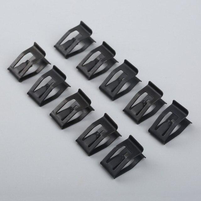 10 sztuk samochodów przednia konsola Dash wykończenie deski rozdzielczej metalowy uchwyt czarny nit zaczep mocujący pasuje do ford mazda Audi Toyota