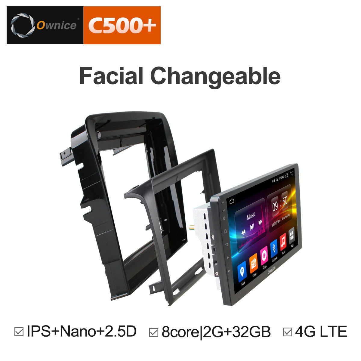 "Ownice C500 + G10 8 Core 10.1 ""Android Auto Radio Stereo Auto dvd-speler GPS voor Subaru Forester Toyota CAMRY Hyundai Santa Fe"