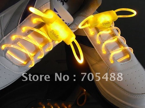 free shipping HOT selling fashion LED flash shoelace,magically lighting,5 colors Optical Fiber Glowing light up led shoelace