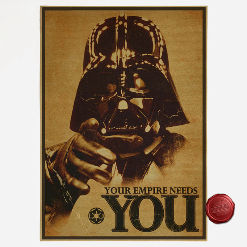 Us 112 30x42cm Vintage Star Wars Poster Retro Art Wallpaper Home Decoration B In Wall Stickers From Home Garden On Aliexpress