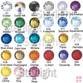 Ss10 1440 unids/bolsa Crystal ab HotFix Rhinestones FlatBack strass, DIY hierro calor Hot Fix piedras cristal