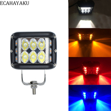 ECAHAYAKU 1pcs Led new design Drl 18W 4 inch Work Light  12V 24V for Off-road Lada Niva Uaz Toyota Audi Mazda Jeep 4x4 truck ATV