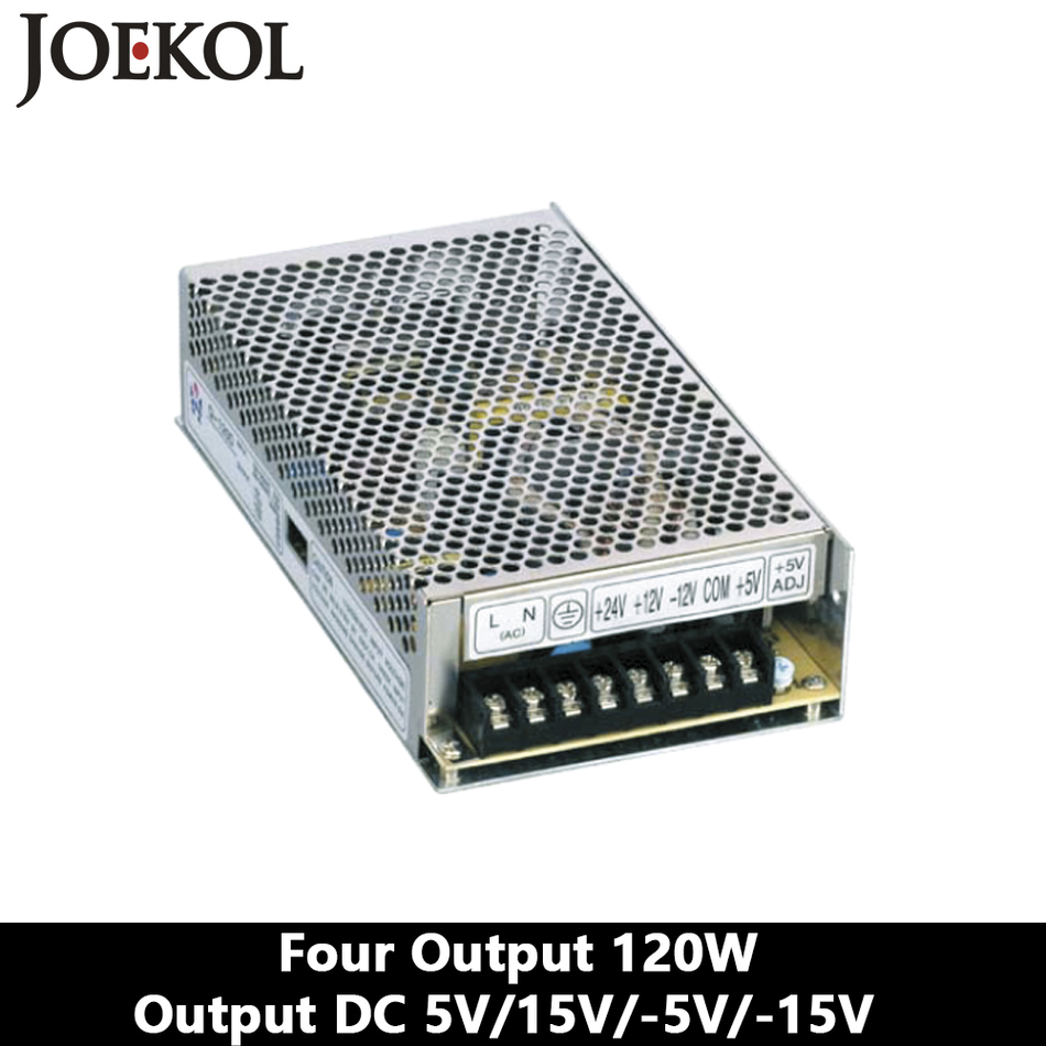 Quad Output Switching Power Supply 120W 5V 15V -5V -15V,dc Power Supply,AC110V/220V Transformer To DC 5V 15V -5V -15V ms 120 15 120w mean well led 15v power supply 8a transformer 110v 220v ac to dc output