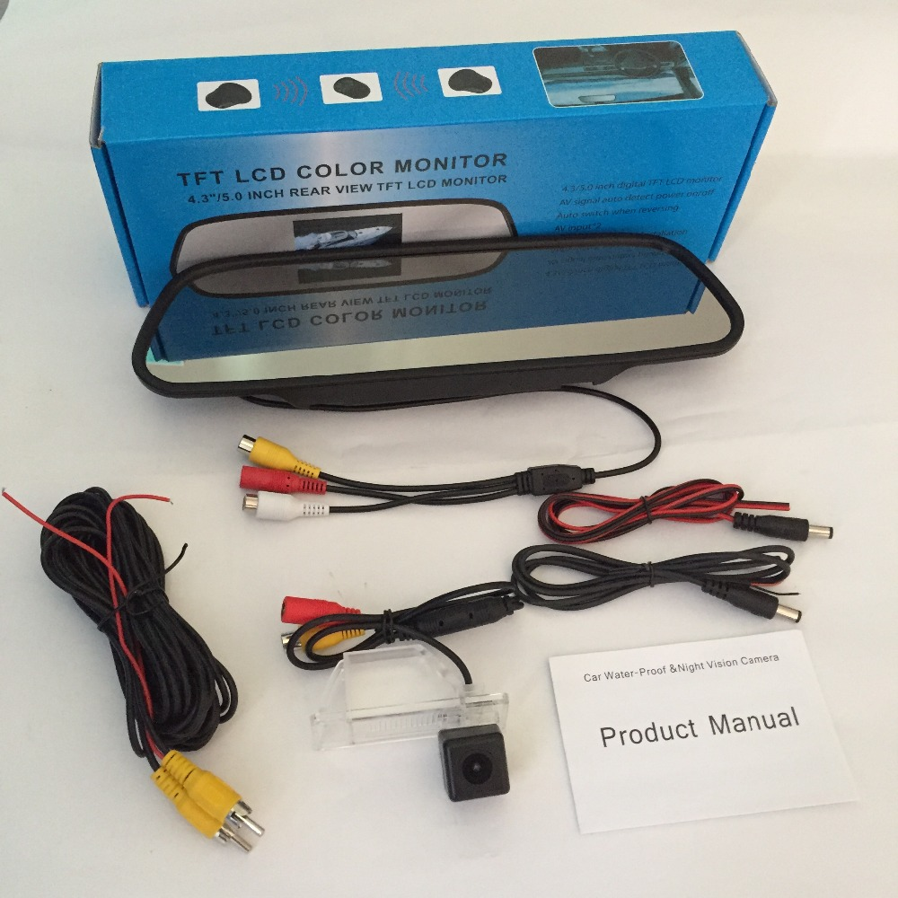 For Nissan Sunny Sentra B15 20012006 Car Wired Rca Hd Ccd Wiring Diagram Thehotcakes 5 Mirror Monitor Rear View Camera Tft Video Auto Parking Kit
