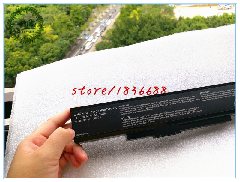 GYIYGY 14.4V 4400mAh A32-C17 A41-C17 A42-C17 Laptop Battery for MEDION Akoya P7628 E7226T P7631T E7223T E7225 40045709 40045710(China)