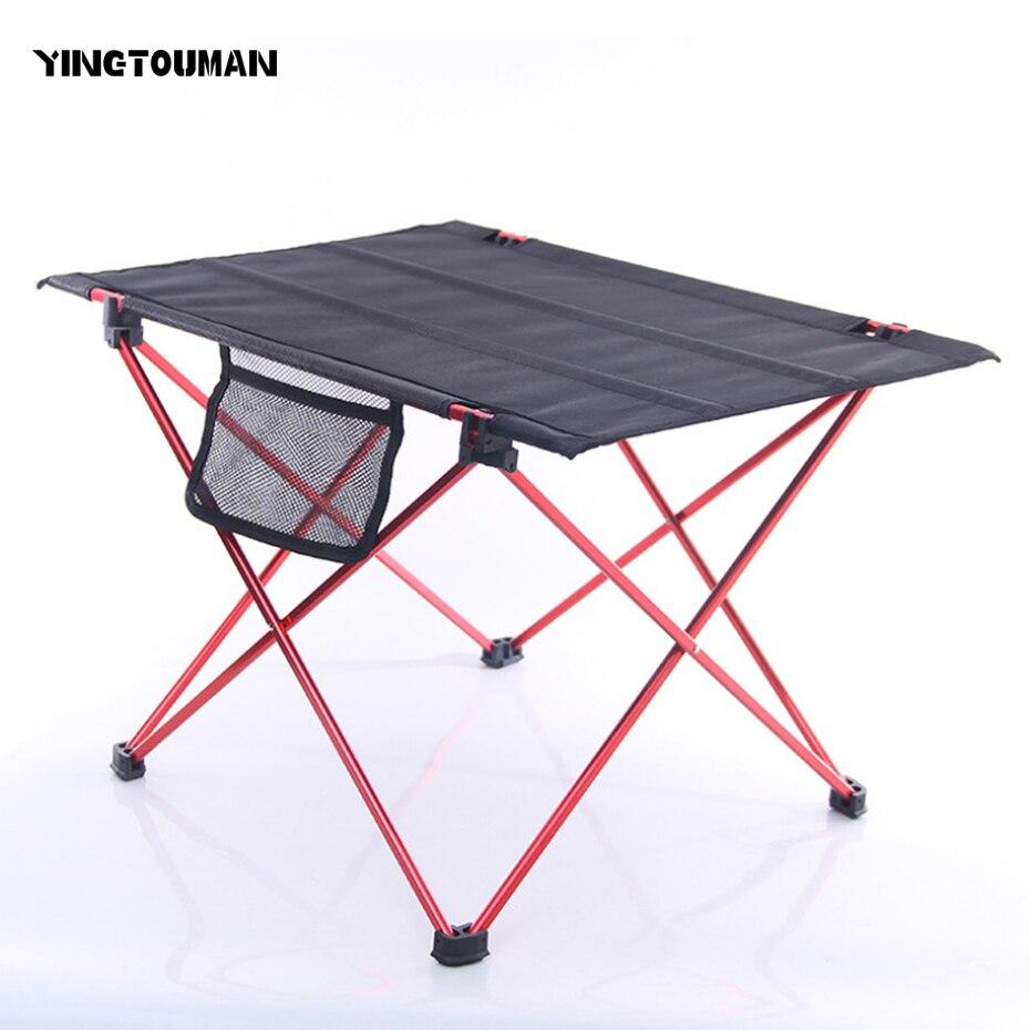 YINGTOUMAN Portable Pliable Table de Camping En Plein Air Meubles Ordinateur Lit Table Pique-Nique Ultra-Léger de Pliage Bureau En Plein Air Vaisselle