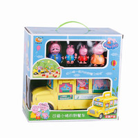 Peppa Pig George Family Camper car Toys Doll Action Figures Family Member Toys Early Learning Educational toys