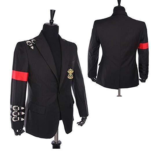 Майкл Джексон куртка пальто длинное приталенное двубортное с отложным воротником мужское Модное теплое длинное пальто Верхняя одежда с кепкой - 3