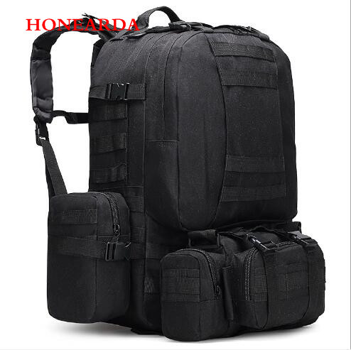50pcs camping bag Oxford cloth outdoor backpack army camouflage hiking bag mountaineering big tactical combination backpack