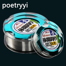 Strong nylon fishing line 50m/100m clear linha monofilamento wear resistant carpe fish wire sea fly fishing accessories 30