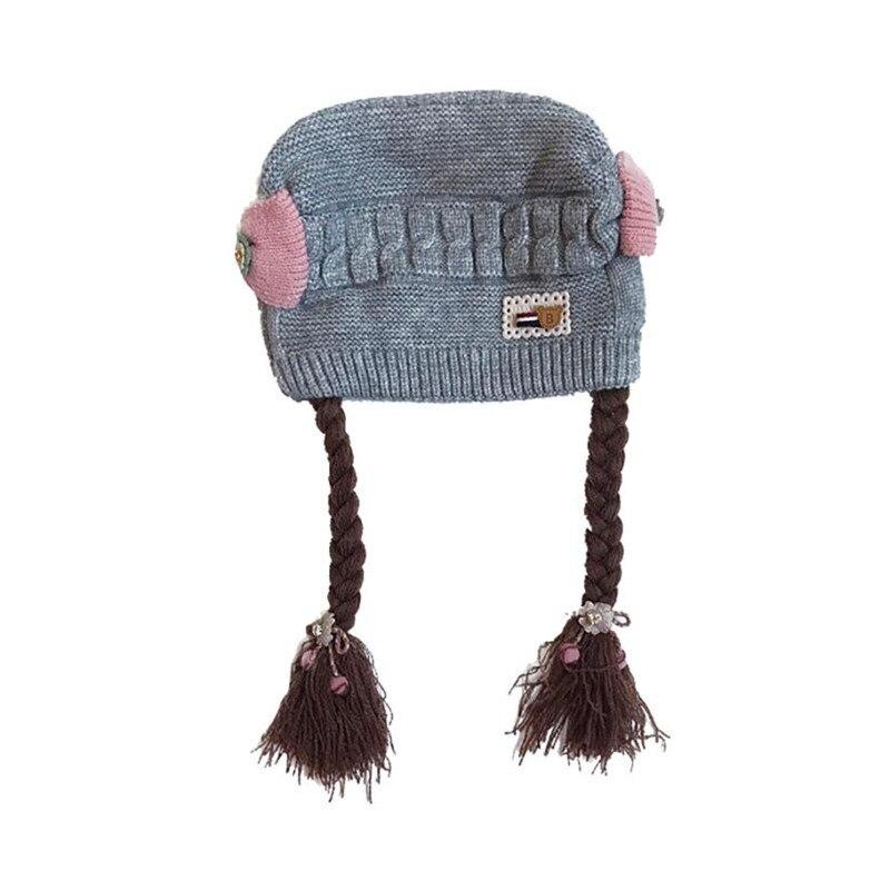 Peuter Kids Jongen Meisje Knit Cap Baard Haak Beanie Winter Emmer