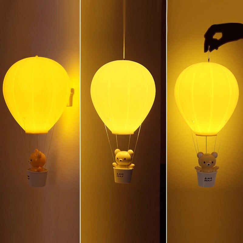 US $12.76 42% OFF|Lumiparty Dimmbare Heißluftballon Led nachtlicht Kinder  Baby Kinderzimmer Lampe Mit Touch schalter USB Wiederaufladbare ...