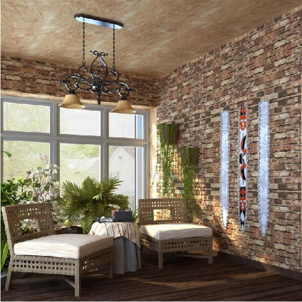 Vintage Natural Brick Wallpaper 3D Effect Realistic Faux Shabby Red Wall BathroomHallwayBackground In Wallpapers From Home