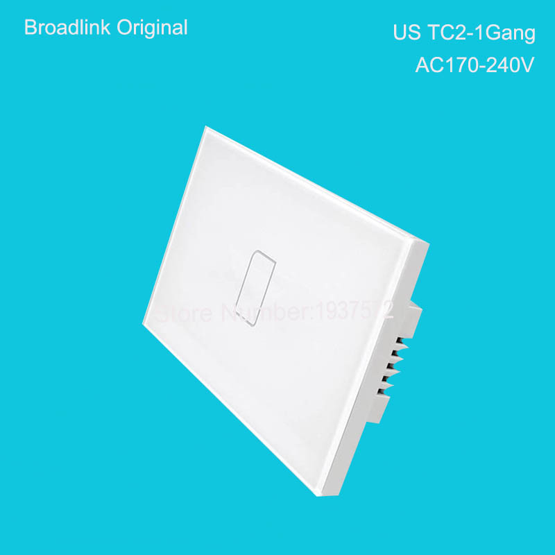 Broadlink TC2 USAUType 1 Gang Smart Wifi Wall Light Touch Switch RF433 AC220V Remote Control by IOS Android Home Automation