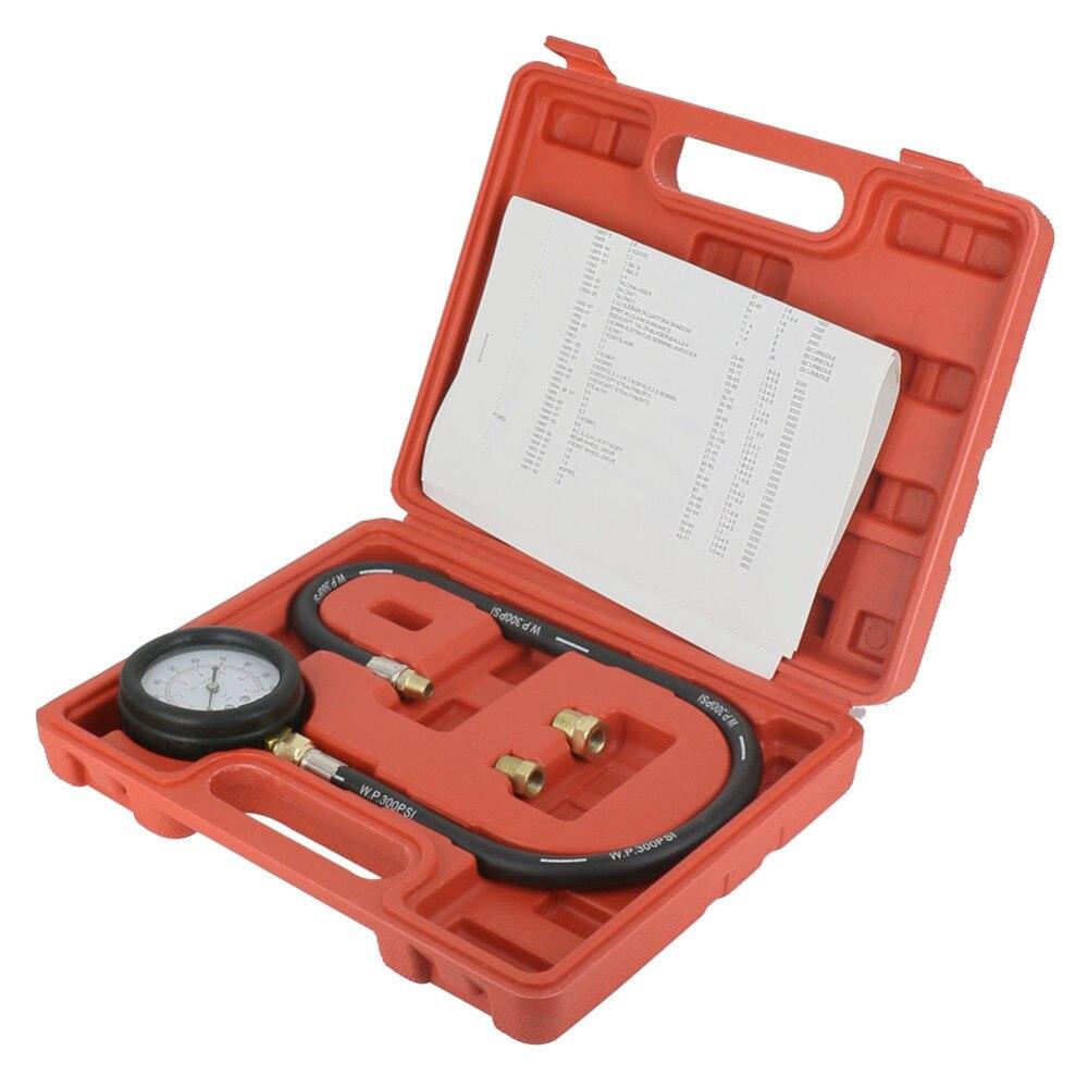 Engine Oil Pressure Tester Pressure Gauge Tu-12 0-100psi Test Tool Kit Auto Pressure Tester High Quality Goods Oil Pressure Gauges