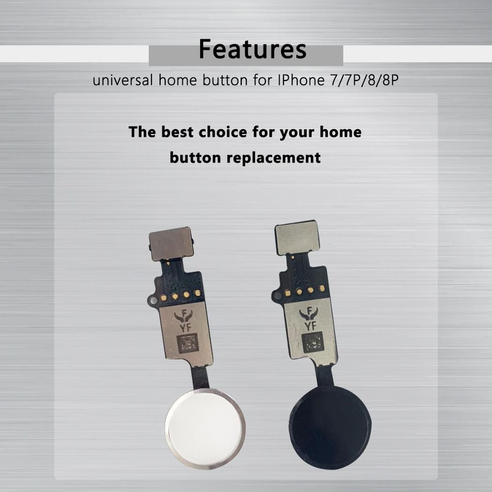 Image 3 - YF NEW Universal Home Button For iPhone 7 7 plus 8 8 plus Button flex cable Restore ordinary Button Replacement return functions-in Mobile Phone Flex Cables from Cellphones & Telecommunications on