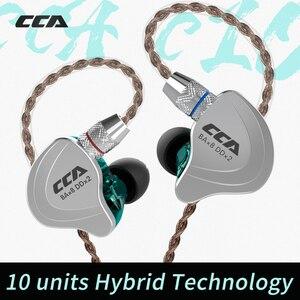 Image 2 - CCA C10 4BA + 1DD Hybrid In Ear słuchawka hi fi DJ Monito Running słuchawka sportowa 5 jednostka napędowa zestaw słuchawkowy odpinany odłącz kabel 2PIN