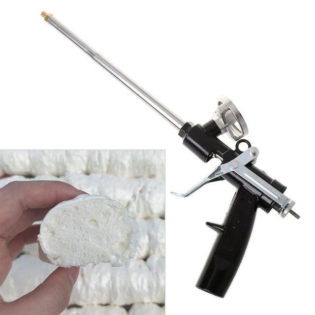 340 مللي متر المهنية البلاستيك معدن البولي يوريثين دليل رغوة توسيع بندقية رذاذ ل سدادة زجاجية