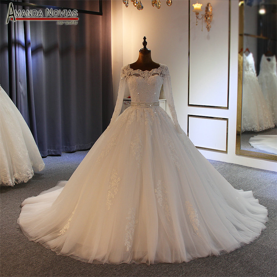 2019 Ball gown wedding dress high quality with cheap price with long sleeves