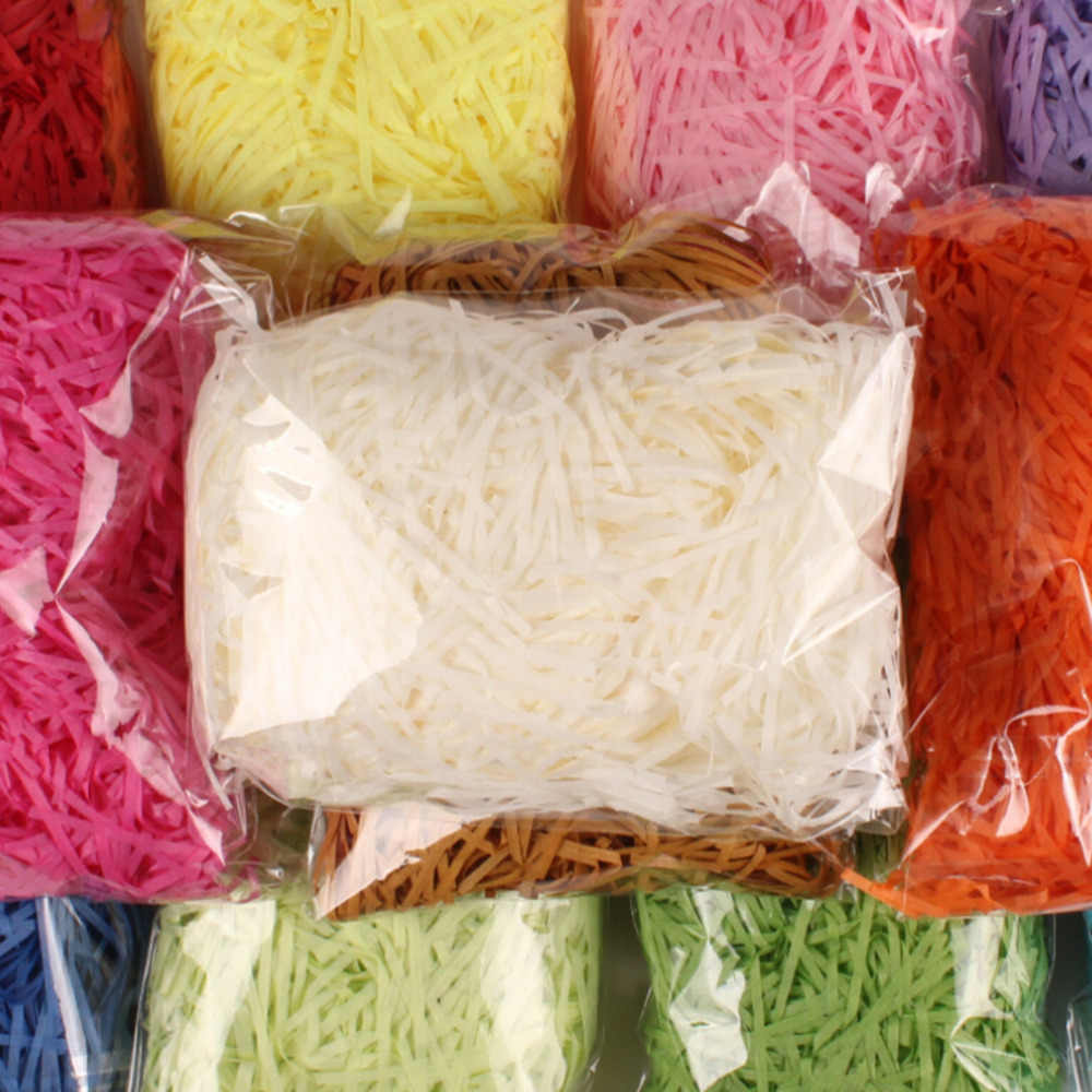 20g/bag Shredded Crinkle Paper Raffia Paper Confetti DIY Dry Straw Gifts Box Filling Material Wedding/Birthday Party Decoration
