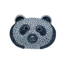 Kuss Schloss Panda Abend Geldbörse und Handtaschen für Frauen Kristall Abendtaschen