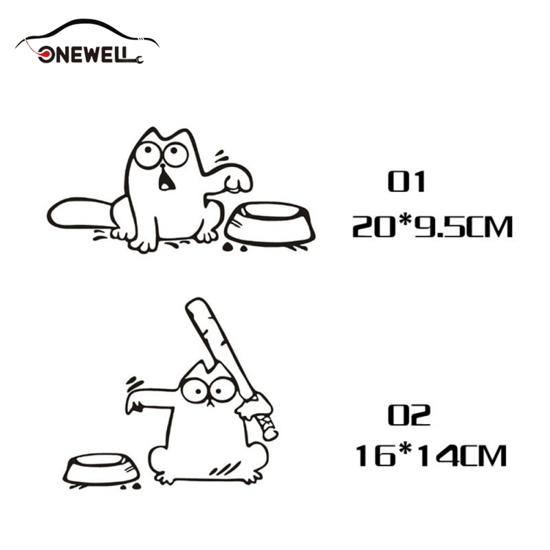 ONEWELL Funny Car Stickers and Decals for Fuel Cap Decor Auto Sticker Car-styling Accessories for BMW e46 ford focus 2 volkswage ...