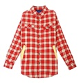 Men Thick Spring and Autumn Style Plaid Long Sleeves Cotton Cotton Red Turndown Collar Warm Thin High Quality Shirt