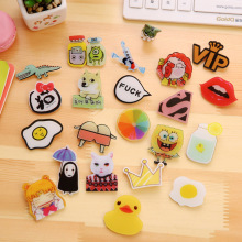 1pc Fashion Korean Style Badges for Girls Boys Food Drink Beauty Icons Pin for Clothes Free Shipping