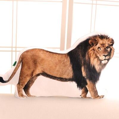 new 3D plush lion pillow doll stuffed lion cushion gift about 63x42cm