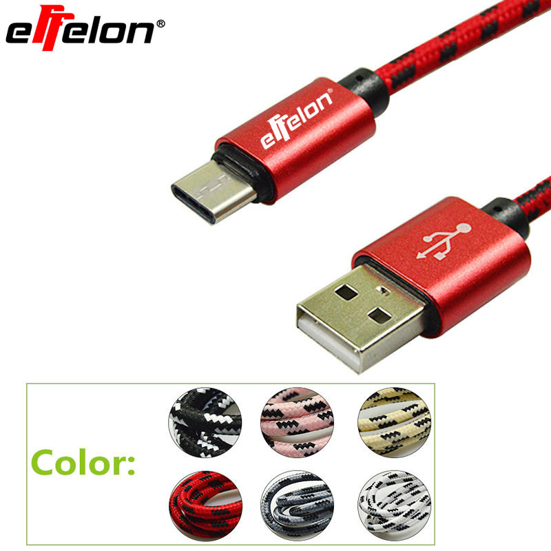 Effelon 1M/2M Fast Charging USB Type C Cable Mobiles